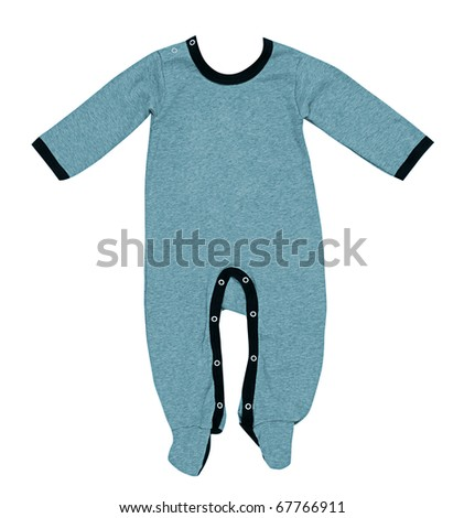 blue clothes for baby - stock photo