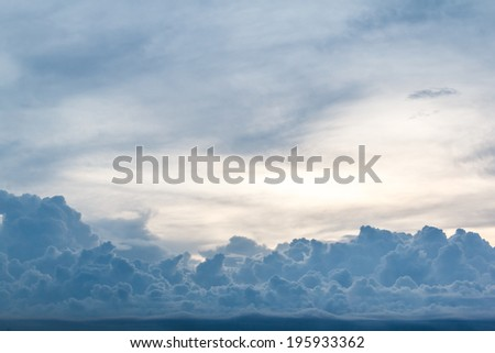 blue cloud at evening , background