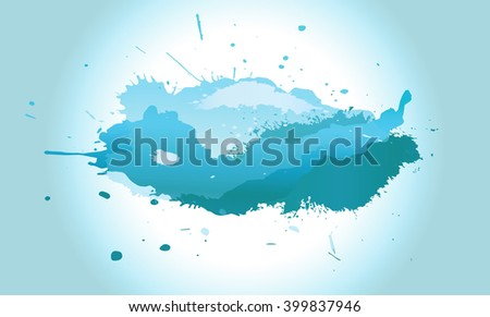 blue cloud of ink blots abstract illustration background texture