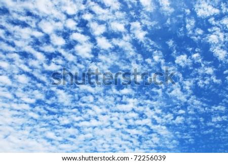 Blue clouds sky - stock photo