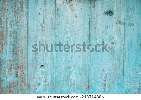 Blue color planks background  - stock photo