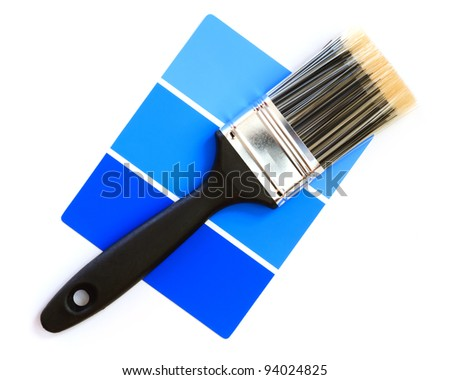 blue color swatch with paintbrush