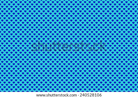 Blue Colored Heart Shape with blue background - stock photo