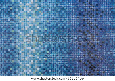 Blue colored mosaic squares - stock photo