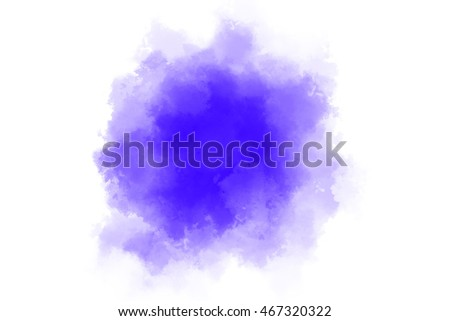Blue Colored Paint Background