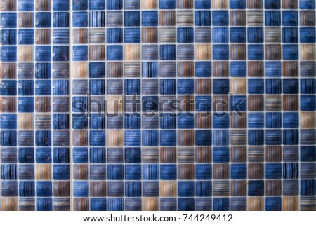 Blue colored tiles background