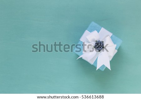 Blue Concept Gift Box With Flower