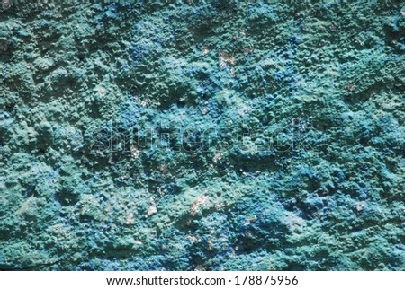 Blue concrete wall texture - stock photo