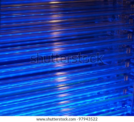 Blue cooling system - stock photo
