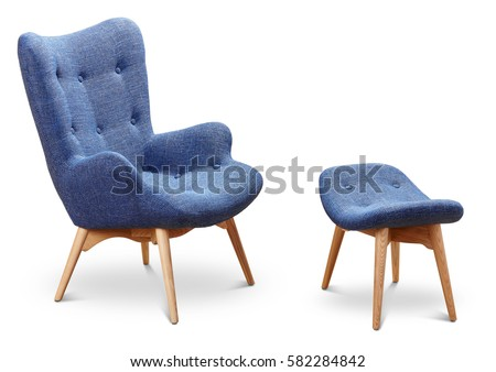 Chair stock images royalty free images vectors for Small blue armchair