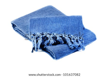 ... blue cotton blanket isolated on white background official photos d20c5  a0aae ... 74bd7327f