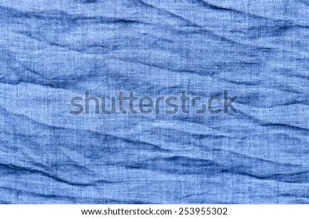 blue cotton close up texture background - stock photo
