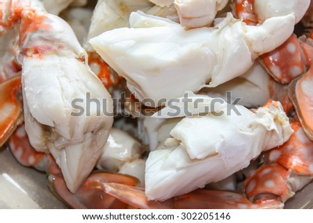 Blue crab streaming, seafood - stock photo