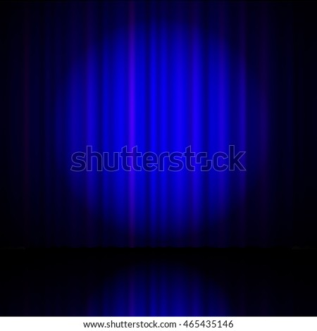 blue curtain from the theatre with a spotlight Raster version.