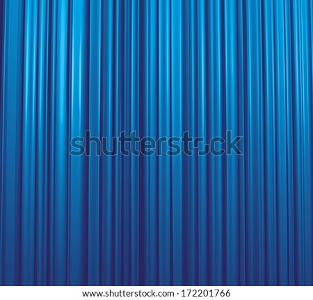Blue Curtain Theater - stock photo