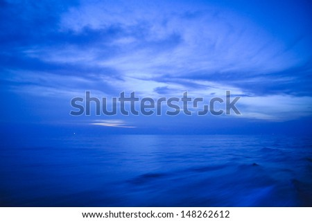 Blue dark night sky - stock photo