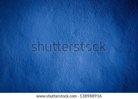 blue darken wall texture grunge background - stock photo