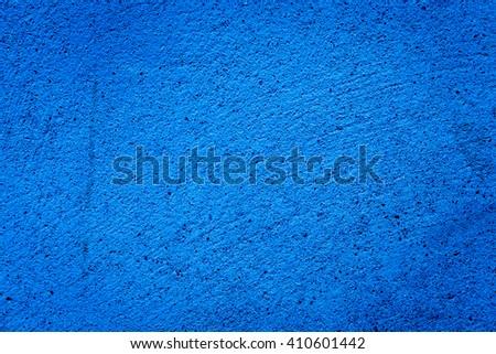 blue darken wall texture of a grunge background - stock photo