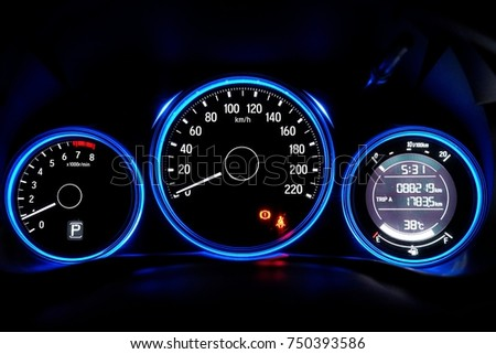 Night Time Close Car Dashboard Stock Photo Shutterstock - Car image sign of dashboardcar dashboard icons stock photospictures royalty free car