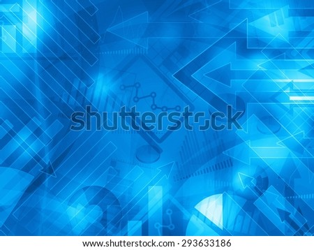 blue data corporate abstract financial background illustration - stock photo