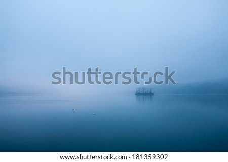 Blue Dawn of the Han River, South Korea - stock photo