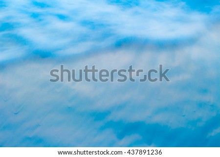 Blue de-focused abstract texture background for your design - stock photo