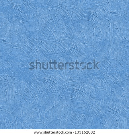 Blue Decorative Plaster. Seamless Tileable Texture. - stock photo