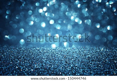 blue defocused lights background. abstract bokeh lights .  - stock photo