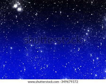 blue defocused lights background. abstract bokeh lights - stock photo