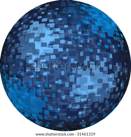 blue digital ball