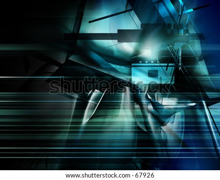 blue Digital Illustration - stock photo