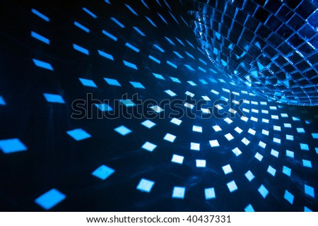 blue disco lights - stock photo