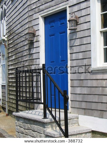 blue door - stock photo