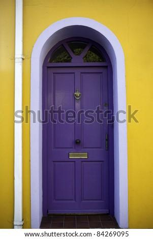 Blue door - stock photo