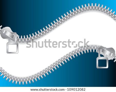 Blue Double Zippered - stock photo