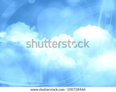 blue dreams background illustration - stock photo