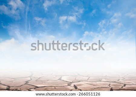 blue drought  and sky - stock photo