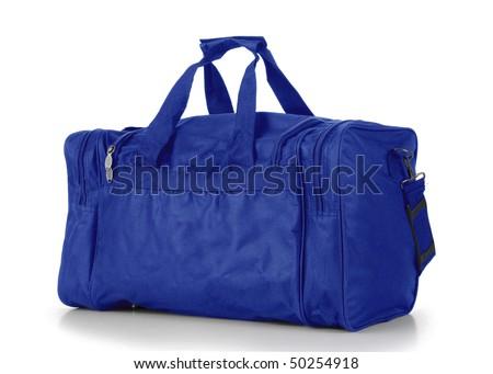 Blue Duffel Bag - stock photo