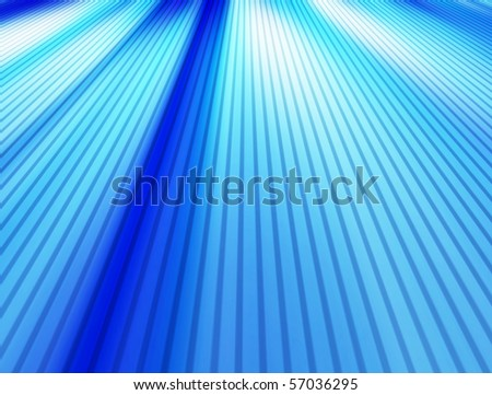 Blue dynamic lines background with perspective. Illustration