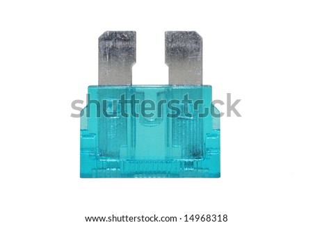 Blue Electrical Automotive Fuse or circuit breaker