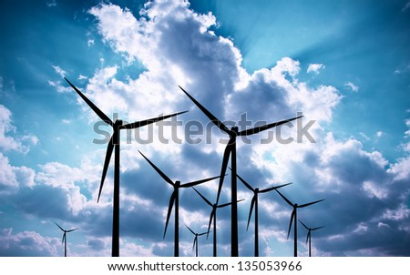 Blue Energy - stock photo