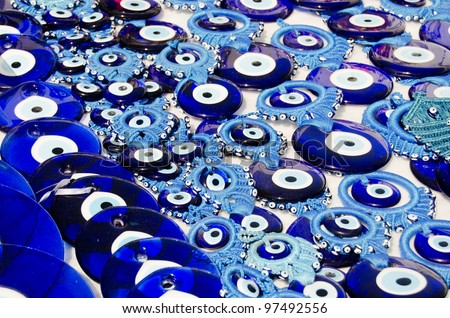 Blue Evil Eye Charms Sold ,  Turkey