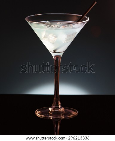 Blue exotic cocktails - stock photo