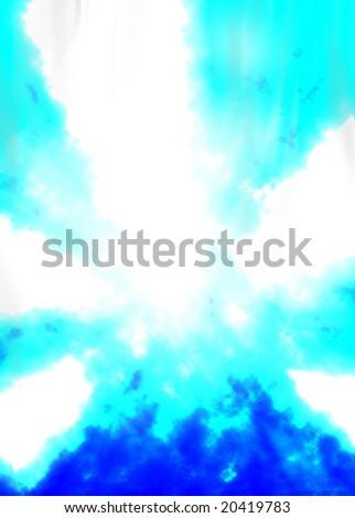 Blue explosion - stock photo