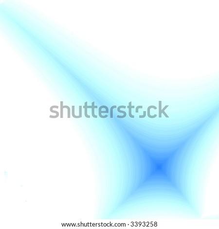 Blue fantasy star on white background - stock photo