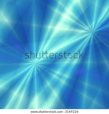 Blue fantasy stars - stock photo