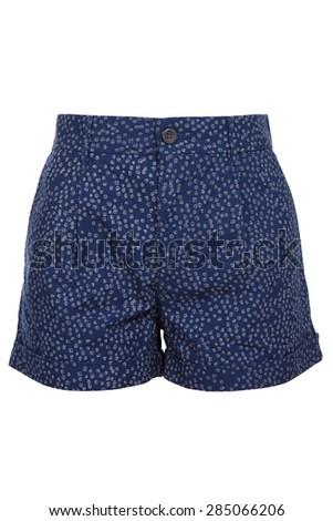 blue female shorts - stock photo