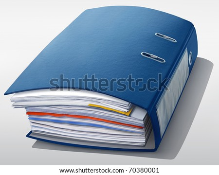 blue file - stock photo