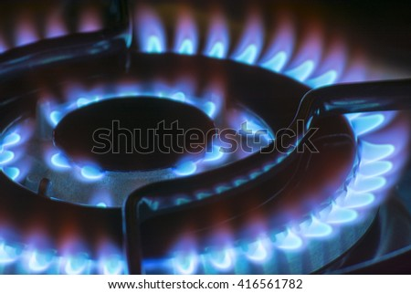 Blue Fire, Soft - stock photo