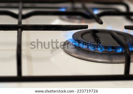 Blue flame - stock photo